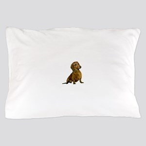Brown/Red Dachshund Pillow Case